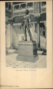 Hartford CT Nathan Hale Statue  c1900 Private Mailing Postal Card EXC COND