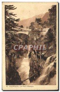 Old Postcard Cauterets Pont d'Espagne