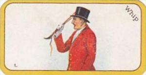 Carreras Cigarette Card Greyhound Racing Game No 1 Whip