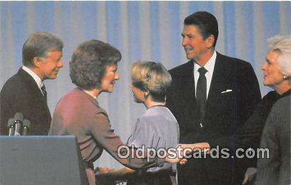 Cleveland, OH, USA Postcard President Jimmy Carter, Governor Ronald Reagan