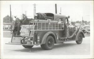 Memphis TN Fire Department Truck Engine #22 c1950s Real Photo Postcard