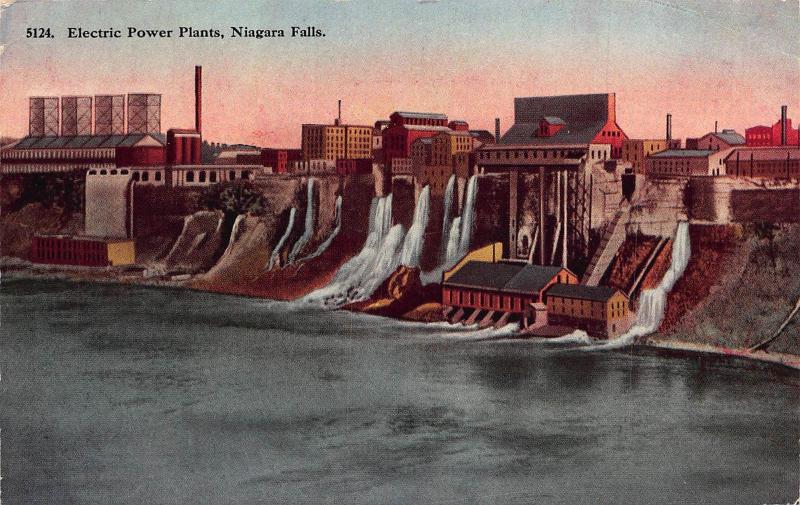 Electric Power Plants Niagara Falls postcard