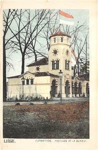 Liège Exposition Pavillon De La Serbie Belgium 1905 Vintage Postcard