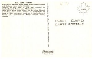 Canada M.V. Lord Selkirk  between Wood Island P.E.I. and Caribou N.S.