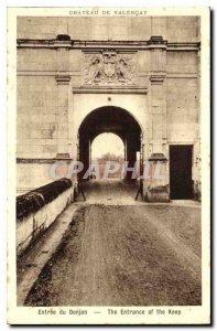 Old Postcard Chateau de Valencay Entree du Donjon