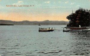 LP14  Lake George Kattskill Bay  New York Vintage Postcard