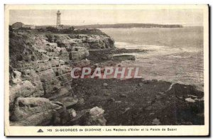 Old Postcard St Georges de Didonne Les Rochers to enter and Pointe Suzac
