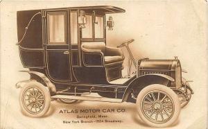 New York NY Garraways Ltd. 1495 Broadway Atlas Motor Car Dealership RP Postcard