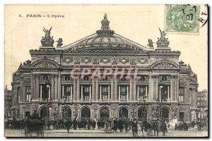 Old Postcard The Paris Opera