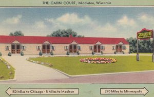 MIDDLETON, Wisconsin, 1930-40s; The Cabin Court