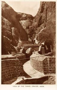 Yemen Aden View of the Tanks Crater Bridge Postcard