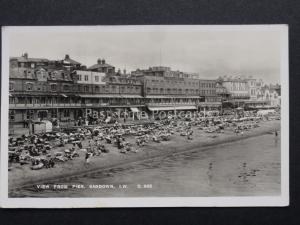 Isle of Wight: View from Pier, SANDOWN - Old RP Postcard by G.Dean & Co D.685
