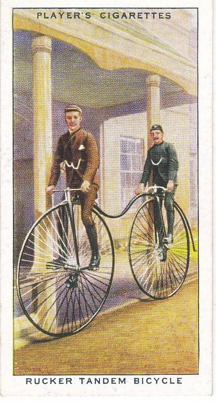 Cigarette Cards Players CYCLING No 13 Rucker Tandem Bicycle