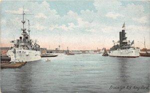 H85/ Brooklyn New York City Postcard c1910 Navy Yard Battleships 126
