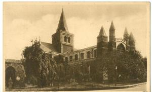Rochester Cathedral from North West, early 1900s Postcard
