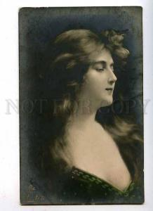 182557 BELLE Woman Long Hair by Angelo ASTI vintage tinted PC