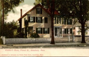 Massachusetts Amesbury Whittier's Home On Friend Street