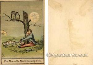 The Man in the Moon is looking at you - Approx Size Inches = 3.25 x 4.75  The...