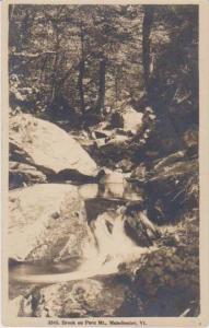 RP: Scenic View of Brook on Peru Mountain, Manchester Vermont 1920-1945