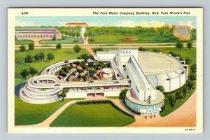 1939 New York World's Fair - The Ford Motor Company Building - Linen Postcard