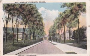 McGill Universsity Montreal Canada 1922