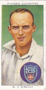 Player Vintage Cigarette Card Cricketers 1938 No 46 W J O'Reilly New South Wa...
