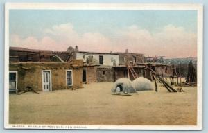 Postcard NM Tesuque Indian Pueblo Fred Harvey Card Q1