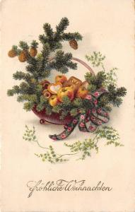 BG8415  fir branch  weihnachten christmas greetings germany