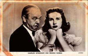 CPA AK CHARLES WINNINGER. DEANNA DURBIN. Film Star (601552)