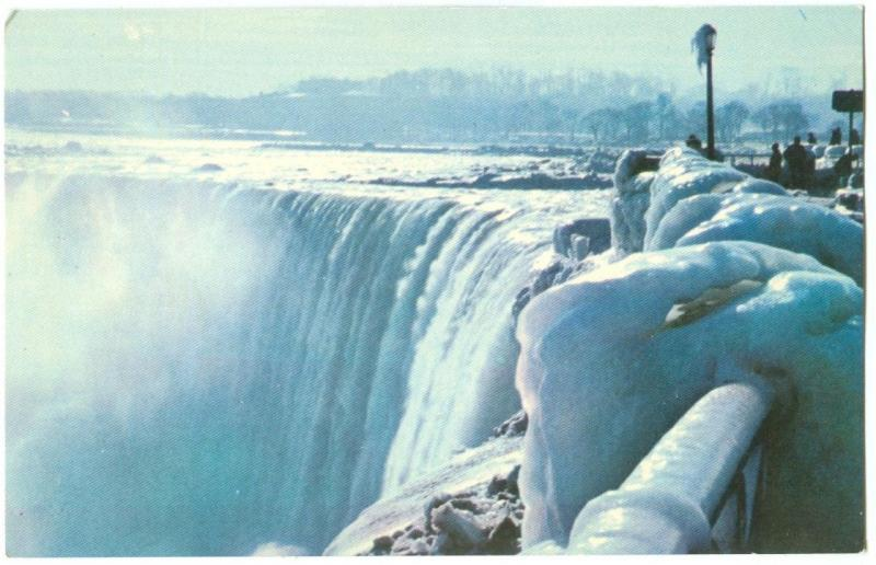 Canada, Horseshoe Falls in Winter, Niagara Falls, unused Postcard