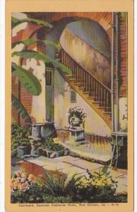 Louisiana New Orleans Governor Claiborne Home Courtyard Dexter Press