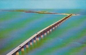 Florida Key West Helicopter View Of The Bahia Honda Bridge