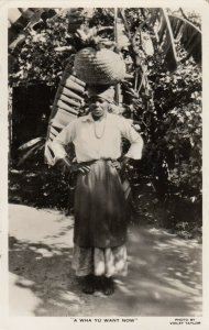 RP: JAMAICA, 1930-40s ; Native Woman A Wha Yu Want Now