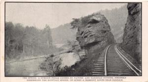 OAKDALE TENNESSEE~THE SPHINX ON QUEEN & CRESCENT RAILROAD ROUTE POSTCARD 1900s