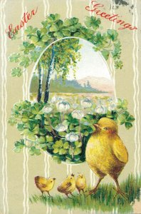 Happy Easter - Chicks Embossed Easter Greetings 04.57