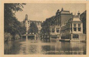 Netherlands Amsterdam Lido met American Hotel Postcard