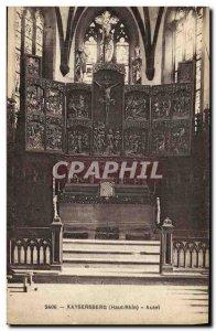 Old Postcard Kaysersberg Altar
