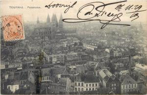 Belgium Belgique Tournai panorama TCV stamp 1919
