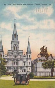 Louisiana New Orleans St Louis Cathedral 1948