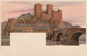 RUNKEL, Limburg-Weilburg, Germany, 1900-10s; Castle View and Bridge