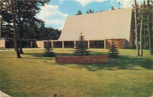 Traverse MI~Bethlehem Lutheran Church~Empty Parking Lot 1957 Postcard