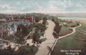 Western Promenade Portland Maine 1908