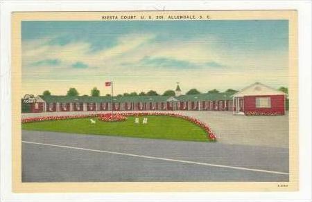 Siesta Court, U.S. 301, Allendale, South Carolina, 1930-1940s