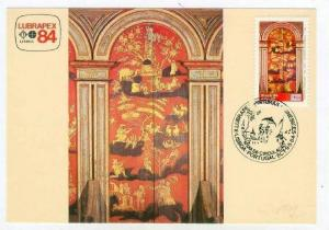 Maximum postcard Art Panel SEC XVII - Catedral De Mariana, Rio, Brazil, 1984