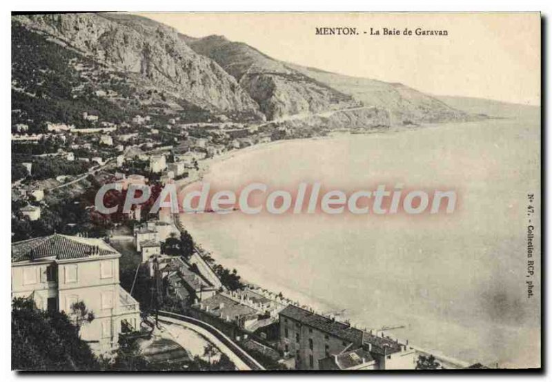 Postcard From Old Menton Garavan Bay