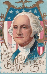 BIRTHDAY, PU-1909; In Memory of Washington, Portrait