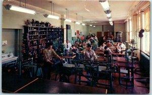 1950s Fort Worth, Texas Postcard TECHNICAL HIGH SCHOOL Electrical Class Scene