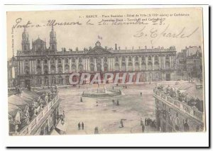 Nancy Place Stanislas Postcard Old City Hall (18th) and cathedral