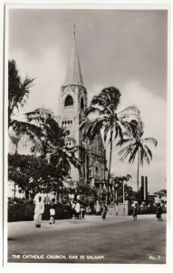 Tanzania; Catholic Church, Dar Es Salaam, No 7 RP PPC By D.E.S. Bookshop, Unused