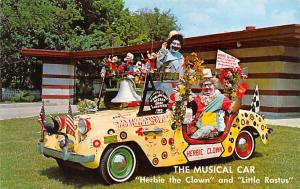 Circus Clowns Acts Old Vintage Post Cards The Musical Car, Herbie The Clown a...